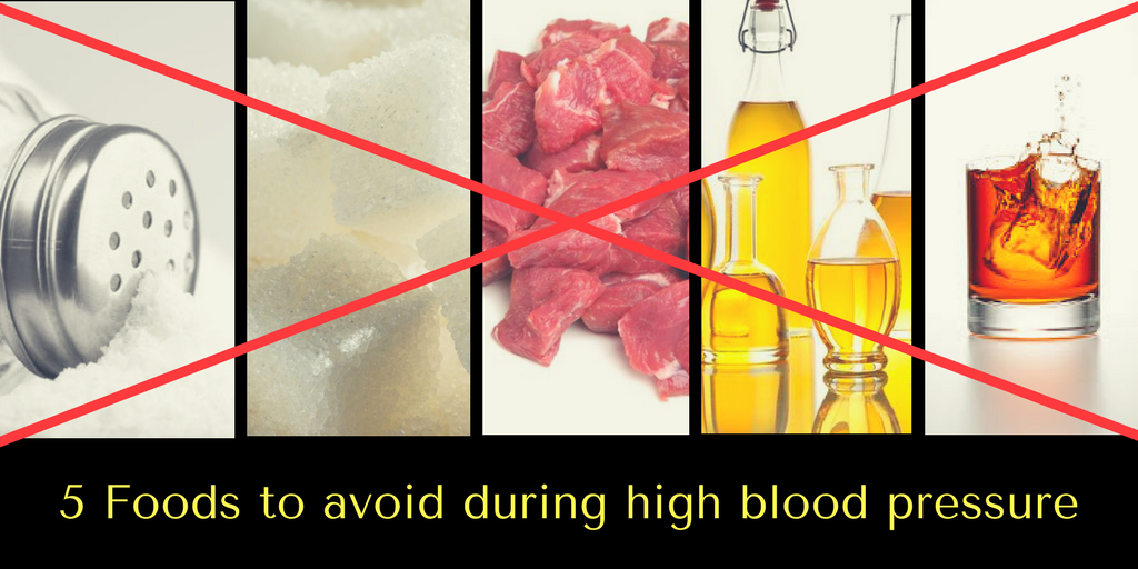 5 foods to avoid high blood pressure