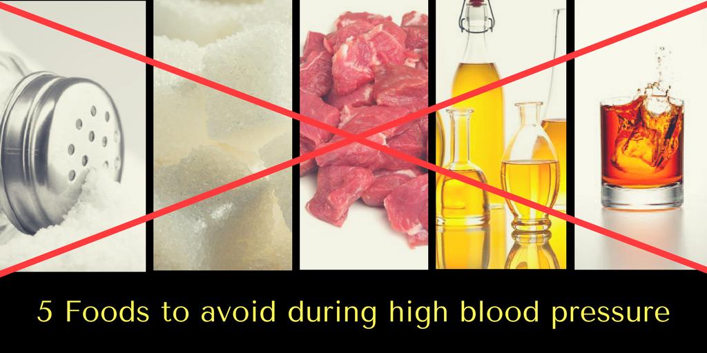 5 foods to avoid high blood pressure
